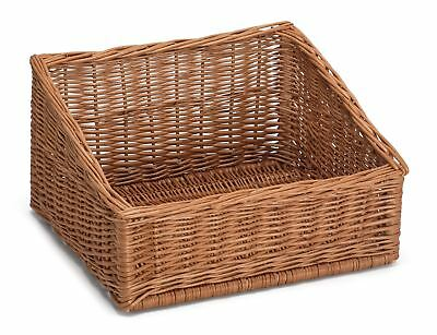Sloping Wicker Display Basket 45x40cm