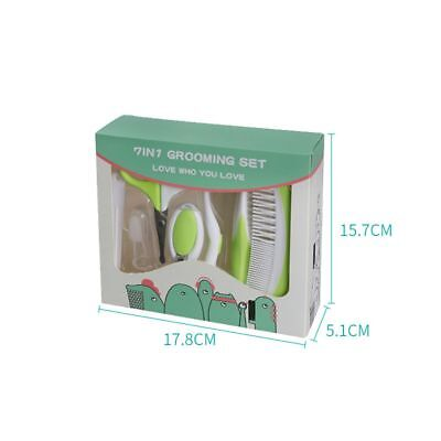 7Pcs Newborn Baby Nail Clipper Hair Brush Comb Scissor Health Care Grooming Kit
