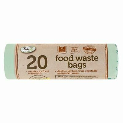 20 x Kitchen Caddy BIODEGRADABLE FOOD WASTE BAGS Rubbish Compost Bin Recycle