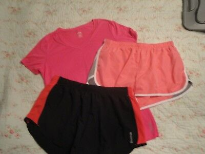 Lot of 3 REEBOK Sport Shirt and Shorts Women's L