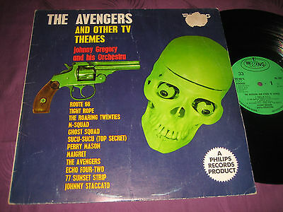 LP John Gregory Orchestra: The Avengers & Other TV Themes - UK Wing WL 1087