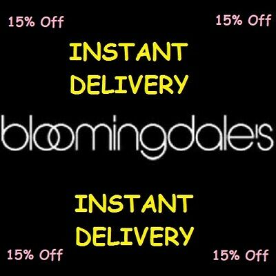 Bloomingdale's Coupon 15% Off Exp. 12/31/2020 *INSTANT DELIVERY*