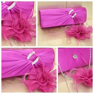 Light Purple Clutch Bag and Fascinator Set Occasion Wedding Ladies Day Races UK