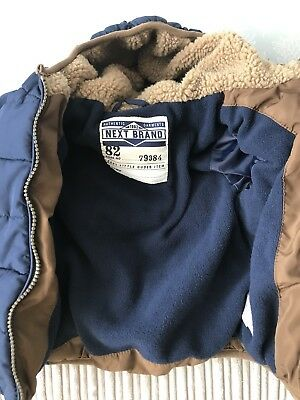 Baby Boys Next Winter Coat 9-12 Months Immaculate