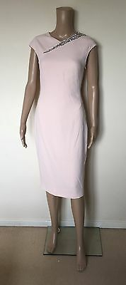 0d4ec84821f9 Ted Baker Floray Embellished Bodycon Cut Out Dress Wedding Baby Pink size 1  UK 8