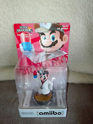 Nintendo Amiibo Nr. 42 Dr. Mario Super Smash Bros. Collection OVP neu