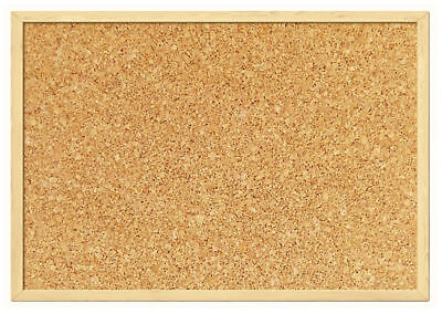 Natural Cork Pin Notice Board - Office Memo School With Free 30 Push Pin Board
