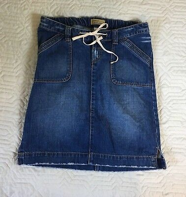 Old Navy Maternity Jeans Blue Jean Skirt Distressed Knee Length Women Size 4
