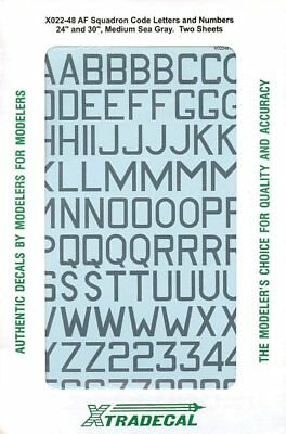 XTRADECAL 1:48 RAF Squadron Code Letters Number 24