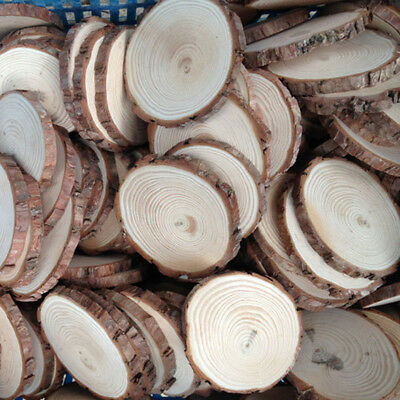 30pcs Unfinished Natural Round Wood Slices Circles Discs for DIY Crafts Dia3-4cm