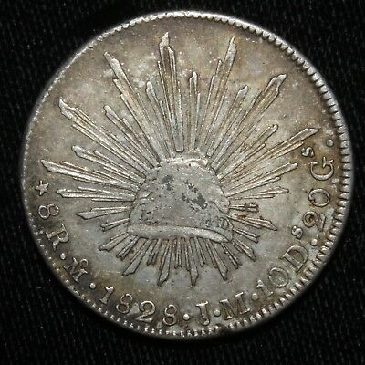 1828 Mexico 8 Reales Coin - 01594