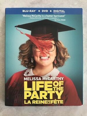 Life of the Party Blu-ray + DVD 2018 w Slip Cover Canadian Bilingual LOOK
