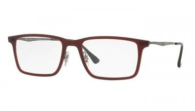 bc31b7debc Authentic Ray Ban LightRay Eyeglasses RB7050 5456 Matte Red 54mm Rx-ABLE