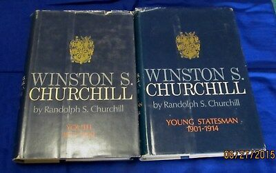 Winston Churchill ~ Youth (1966) and Young Statesman (1967) ~ first printings