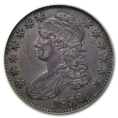 1832 Capped Bust Half Dollar AU-55 PCGS (Small Letters) - SKU#172646