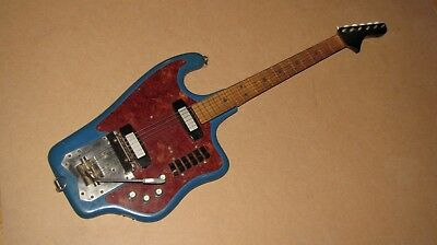 """""""Tonica"""" - electric guitar made by a master from the USSR, for the collection."""
