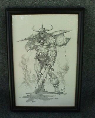Ovi Hondru - Conan the Barbarian Original Pencil Preliminary Cover Savage Sword