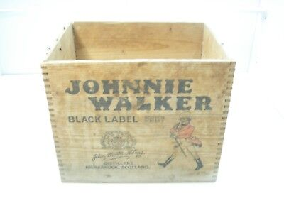 Johnnie Walker Scotch Whisky Vintage Old Wooden Crate From 1959 (34x26)