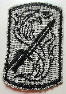 198th Infantry Brigade Shoulder Patch -- Nam Made -- Stitched on Twill