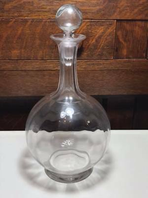 Antique blown crystal decanter