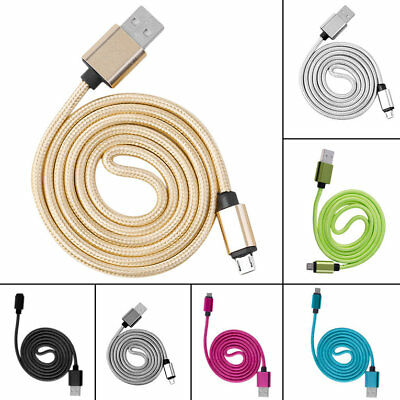1M Universal Nylon Aluminum Alloy Charging Cable Data Transmission Cable TP1