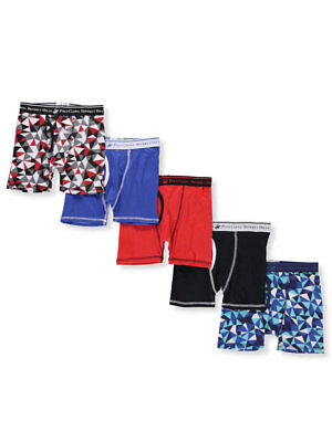 Beverly Hills Polo Club Boys' 5-Pack Boxer Briefs