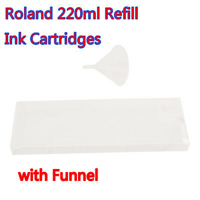 Roland 220ml Refill Ink Cartridges with Funnel for Roland FJ-540 / SP-300V