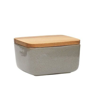 NEW Ecology Mineral Butter Dish Overcast (RRP $25)