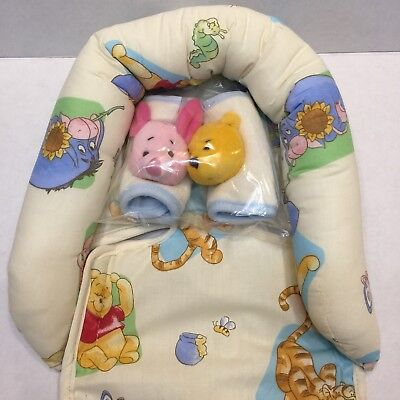 Disney Classic Winnie The Pooh Infant Head Support and Strap Cover Set NEW