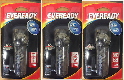 3X Eveready Camouflage Metal Flashlight. Batteries Included. 45 Lumens.