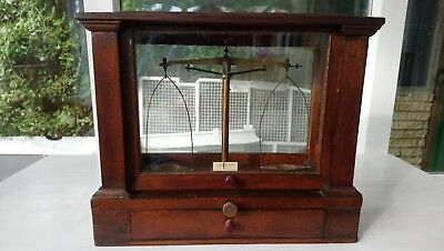 Vintage Glass Cased Scales Scientific Weighing Becker's Sons Rotterdam