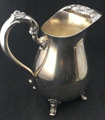 """Ice Lip Countess Water Pitcher International Silver 8 3/4"""" Footed"""