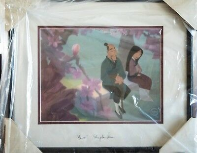 "Framed Disney LE 5,000 Mulan ""Beautiful Blossom"" Sericel Autographed"