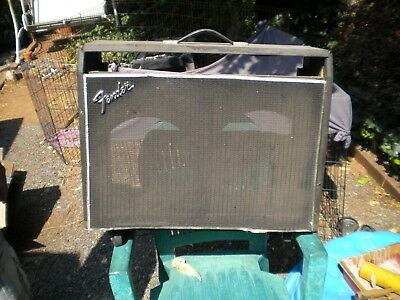 Vintage 1968 / 69 Fender Twin Reverb Empty Cabinet With Wheels