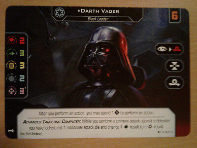 X-Wing 1.0 & 2.0 - Darth Vader - Double-sided Alt Art Promo Card GenCon 2018