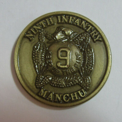 US Army 9th Infantry Manchu Ft Ord Panama Operation Just Cause Challenge Coin