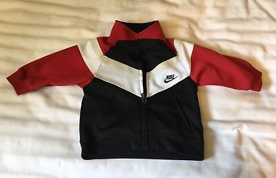 f51719c1fab703 AIR JORDAN FRONT Zip Track Jacket Black Red Baby Boy Size 12 Months ...