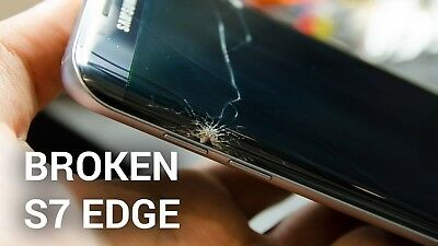 Samsung Galaxy S7 Edge Cracked Screen Glass Repair Replacement Mail-In Service
