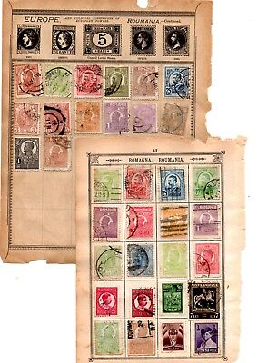 Roumania Romania stamps x 353 several older copies loose and album pages