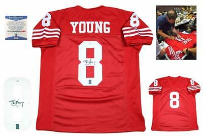STEVE YOUNG AUTOGRAPHED SIGNED Jersey - Beckett Authentic w  Photo ... fd5ccf5b7