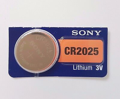SONY CR2025 BATTERY 2025 DL2025 KRC2025 BATTERIES 3V expire 2027 X 1