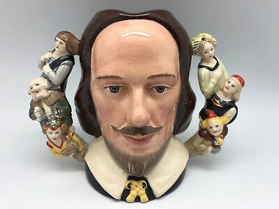 ROYAL DOULTON - William Shakespeare Large Character Jug D6933 - #791/2500 - RARE