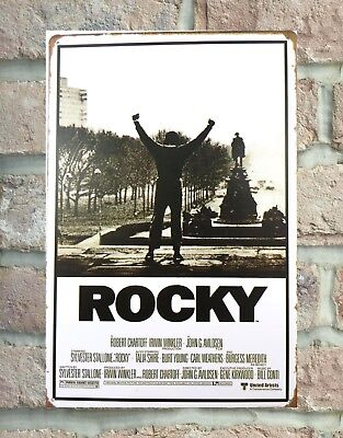 US Seller- Rocky - Movie Score Arms Up metal poster plaque western decor