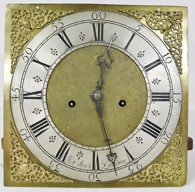 English Grandfather Longcase Striking Clock Movement & Brass Dial Full Service