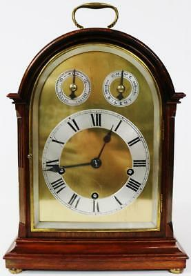Antique Musical Westminster Chime Brass Dial 8 Day Arch Top Mantle Bracket Clock