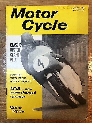 Motor Cycle 13 August 1964 Classic Motorcycle Magazine BSA Norton Triumph