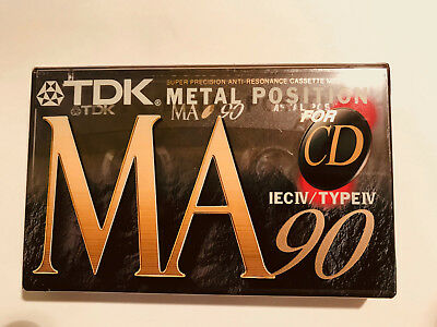 TDK Sealed MA 90 Metal Audio Cassettes Type IV Made In Japan. FREE Shipping