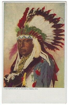 Vintage Native American Indian Post Card, CHIEF BIG-MAN, 1903