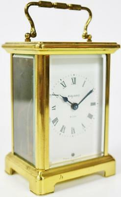 Unusal Antique 8 Day French Ormolu Carriage Mantel Clock C1950 by Bayard