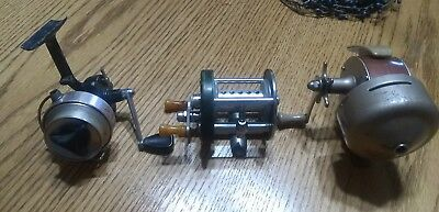 Lot Of (3) Vintage Fishing Reels SHAKESPEARE WONDER-CAST, LANGLEY, COMPAC